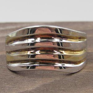 Size 8.75 Sterling Silver Unique Rustic Band Ring
